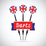 Uk darts background Stock Photography
