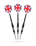 Uk darts background Stock Image