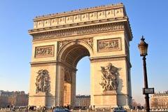 łuk De Triomphe Zdjęcia Stock