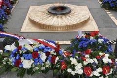 Łuk De Triomphe, grobowiec Niewiadomy żołnierz, Pa Zdjęcie Royalty Free