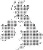 Uk dot map. Illustration of a map of the uk made up of dots stock illustration