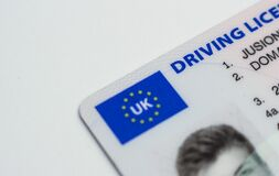 UK drivers license Royalty Free Stock Images