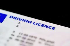 UK Driving Licence. Close up of a UK Driving Licence Royalty Free Stock Photo