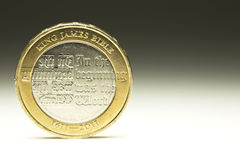 UK Dwa waluty Funtowa moneta Obrazy Royalty Free
