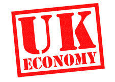 UK ECONOMY. Red Rubber Stamp over a white background Royalty Free Stock Photos