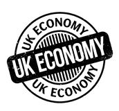 Uk Economy rubber stamp Stock Image