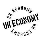 Uk Economy rubber stamp Stock Photography