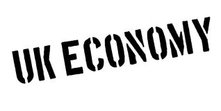 Uk Economy rubber stamp Stock Images