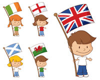 UK and Eire Flags Stock Photography