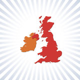 UK and Eire outline map Royalty Free Stock Photos