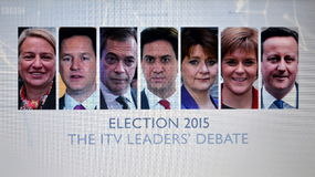 UK Election TV Debate Stock Photos