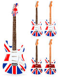 Uk electric guitars Royalty Free Stock Images