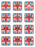 Uk emoticons Royalty Free Stock Photos