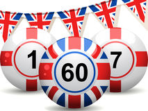 Uk and England bingo balls Royalty Free Stock Image