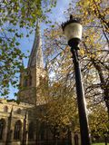 Uk England Derbyshire Chesterfield Crooked Spire Stock Photography