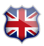 Uk england shield illustration design Royalty Free Stock Image