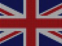 UK English flag in knitting pattern. Close up of UK English flag in hand knitting pattern Royalty Free Stock Photography