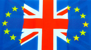 UK and EU flags Royalty Free Stock Images