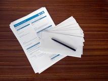 UK EU referendum postal vote application forms. Stock Photos