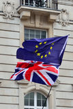 UK - EUROPE Flags Royalty Free Stock Photography