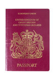UK European Passport front cover Royalty Free Stock Photos