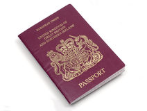 UK European passport front cover, white background Royalty Free Stock Images