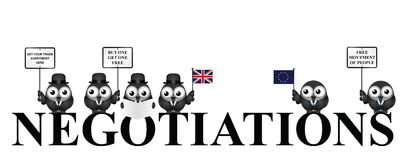 UK exit negotiations from the European Union Royalty Free Stock Photo