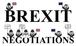 UK exit negotiations from the European Union Royalty Free Stock Photography