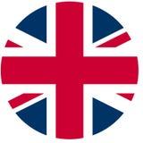 UK flag. Union Jack Flag of the UK in a circle