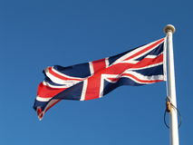 Uk Flag. Photographn of a flag of the united kingdom Stock Photos