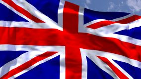 UK flag. UK national flag waving in the wind Stock Photography