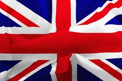 UK Flag. Illustration of a flag of the United Kingdom with ripples Royalty Free Stock Photos