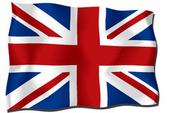 UK flag. Waving in the wind Royalty Free Illustration