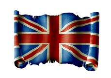 UK flag. Old flag of united kingdom of great britain and northern ireland Royalty Free Stock Image