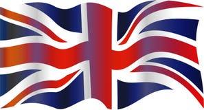 UK flag. United Kingdom Union Jack flag isolated on white Stock Image