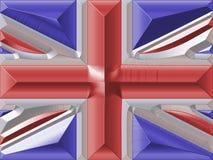 UK flag. Metallic illustration of UK flag vector illustration