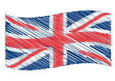 UK flag art Stock Image