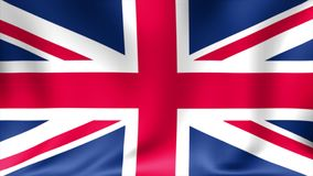 UK flag background. Animated waving Great Britain flag abstract. Background Seamless Looping Animation. 4K High. Definition Video stock video footage