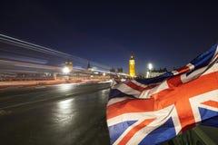 UK flag and Big Ben Stock Photos