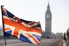 UK flag and Big Ben Royalty Free Stock Photos