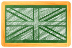 UK Flag on a blackboard Stock Image