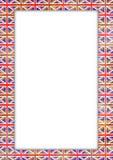 UK flag border Royalty Free Stock Photos