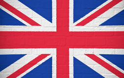 UK flag on brick wall Stock Image