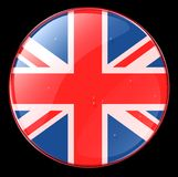 UK Flag Button Stock Photography