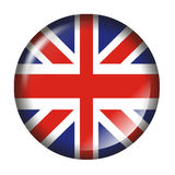 UK Flag Button with 3d effect Stock Photo