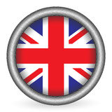 UK flag button Stock Photo