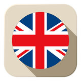 UK Flag Button Icon Modern Royalty Free Stock Photography