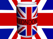 UK Flag Can. Drinks can with the Union Jack flag on it Stock Photo