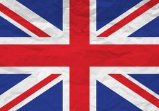 UK flag crumpled paper royalty free illustration