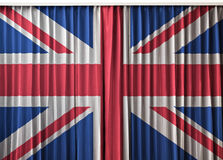 UK flag on curtain Stock Images